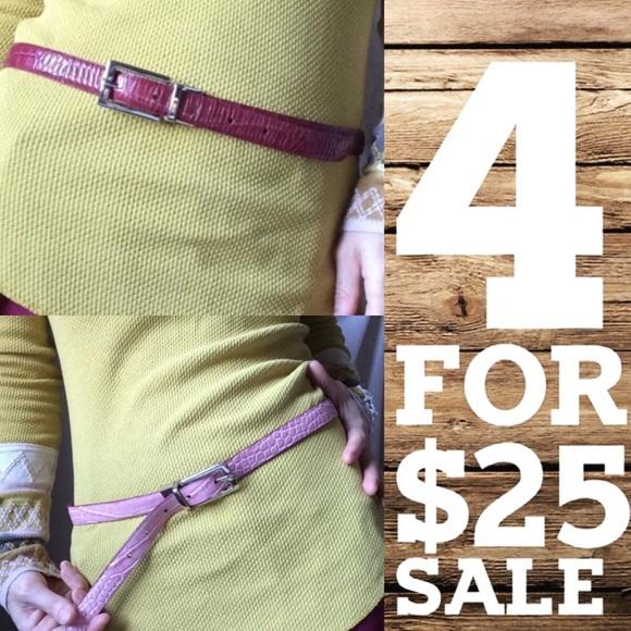 J. Crew Accessories - SALE‼️ Reversible Belt leather pinks skinny waist